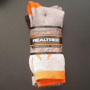 NWT Men's Realtree Mid Weight Outdoor Crew Socks